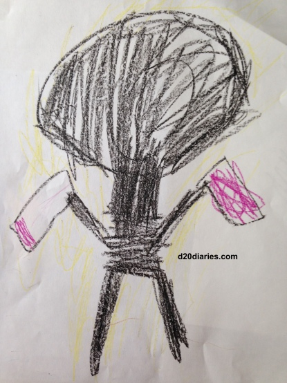Radioactive Robot art by my seven year old son.