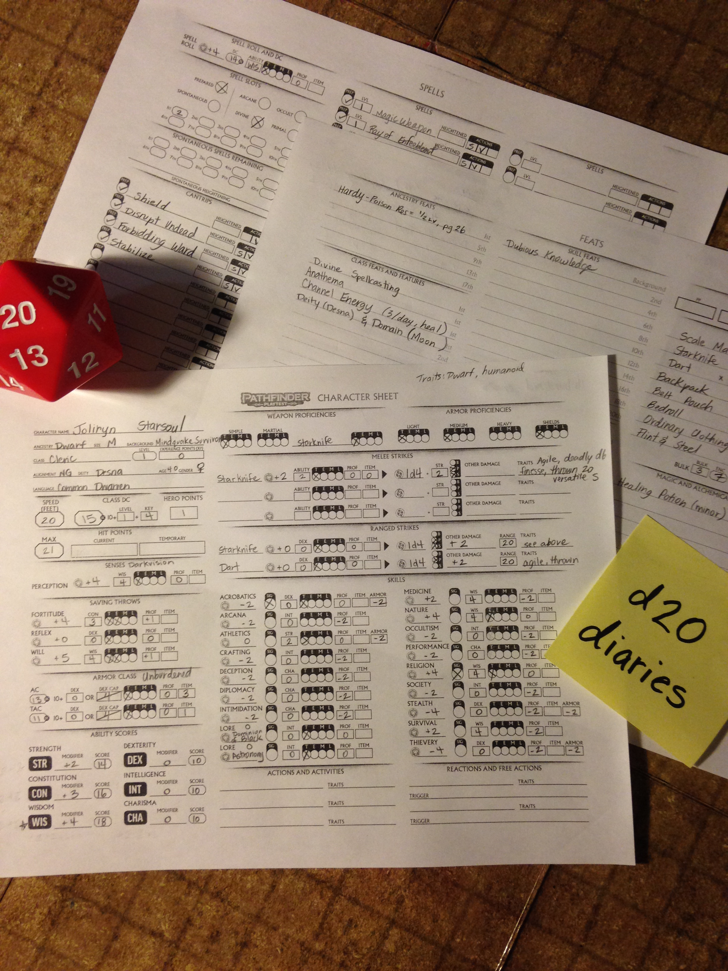 Pathfinder Playtest 1 2! – d20 Diaries