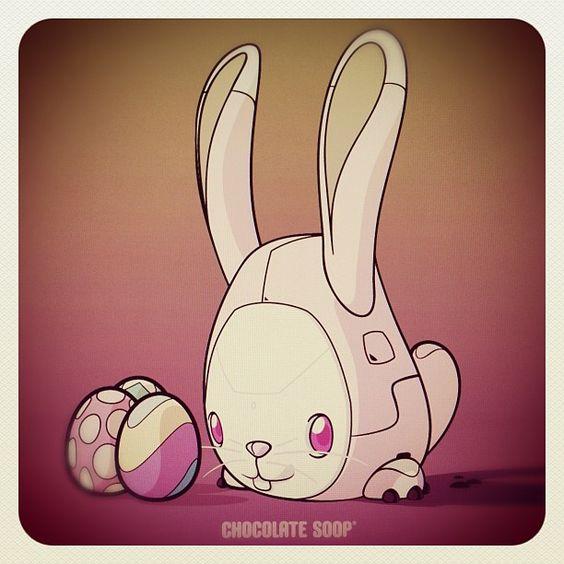 Snowball Easter Bunny Chocolate Soop