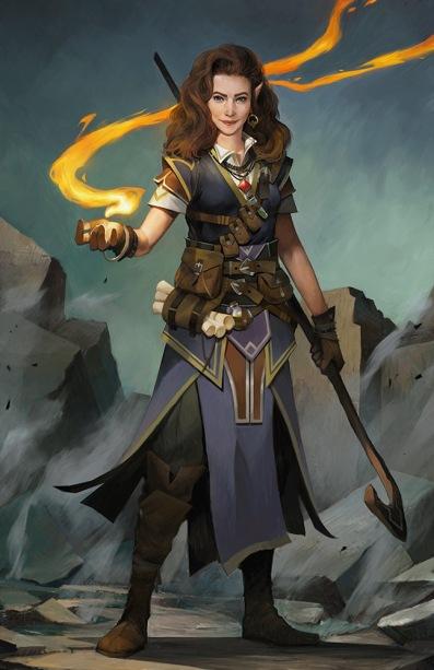 Octavia, Pathfinder Kingmaker, Half-elf arcane trickster