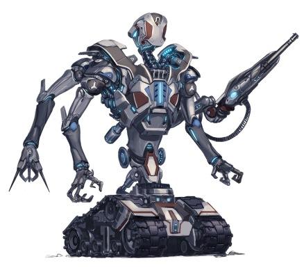Robot David Melvin Against Aeon Throne