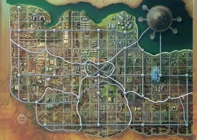 Cuvacara map by Damien Mammoliti. Art courtesy of Paizo Inc.