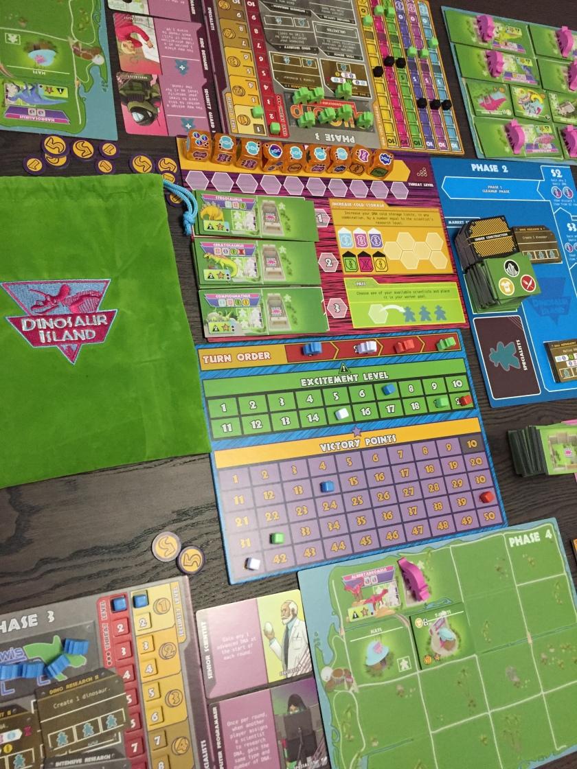 Dinosaur Island Game Set Up