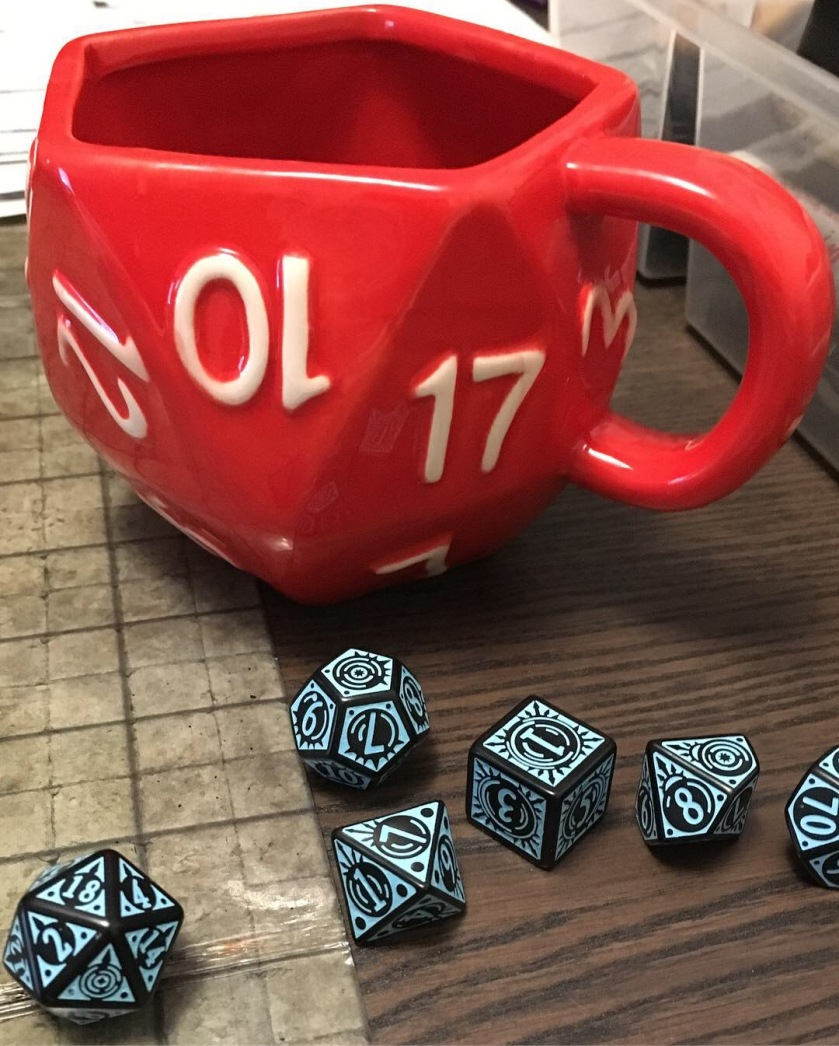 gms needs - tea and dice
