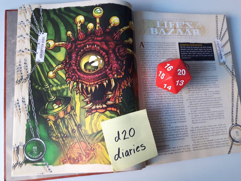 life's bazaar d20diaries shackled city beholder