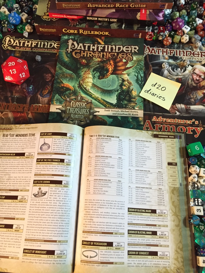 pathfinder, d&d, magical gear