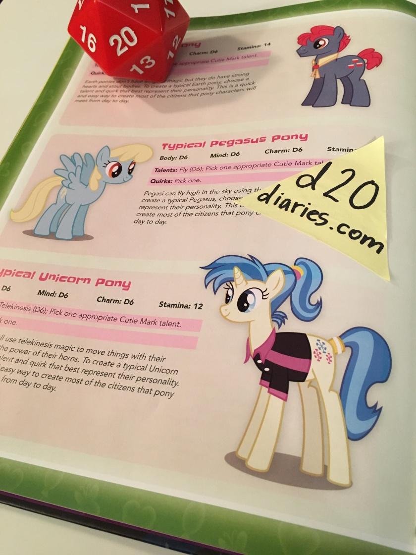 pony statistics - tails of equestria - d20diaires