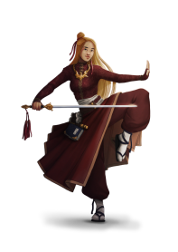 Ai the Golden Blade, CG Female Human Exemplar