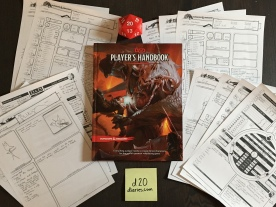 Character sheets complete!
