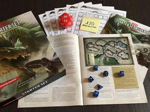 Contents of the D&D Starter Set