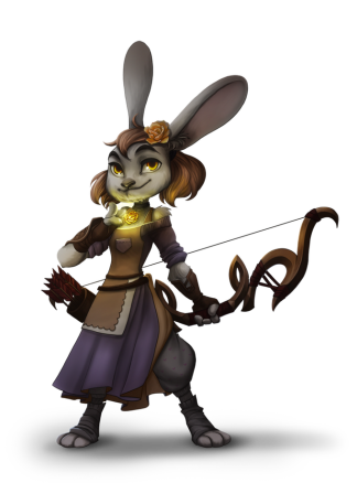 Rosie Rightfoot, LG Female Rabbitfolk Priest