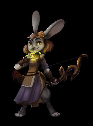 Rosie Rightfoot, LG Female Rabbitfolk Priest