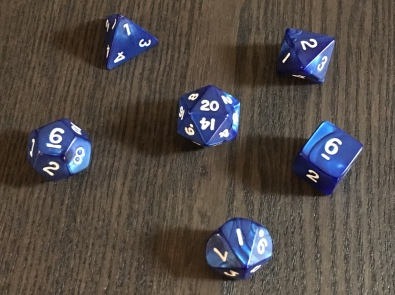 Dice from the D&D Starter Set