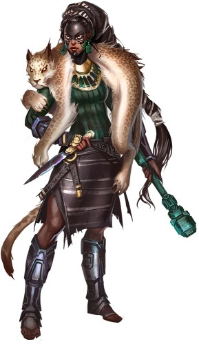 Kazutal, illustrated by Vlada Hladkova. Art courtesy of Paizo inc.