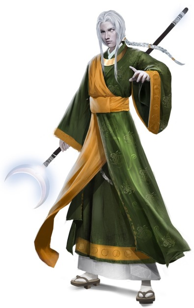 Tsukiyo, illustrated by Sandra Posada. Art courtesy of Paizo Inc.