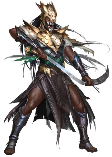 Kazutal Priest, illustrated by Vlada Hladkova. Art courtesy of Paizo Inc.